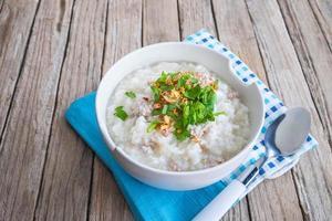Rice porridge breakfast