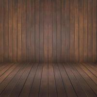 Wood room and wall background photo