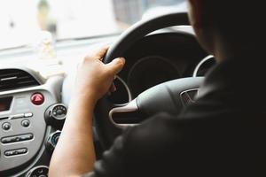 Man driving car photo