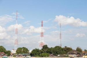 Telecommunication towers in Thailand photo