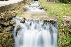 Water flowing beside the road