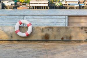 Lifebuoy at the river