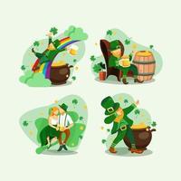 St. Patrick's Leprechaun Character Concept vector