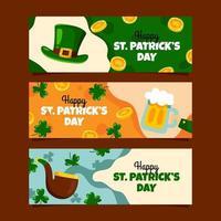 Saint Patrick's Banner Set vector