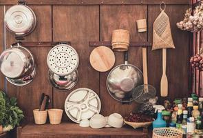 Thai kitchen background photo