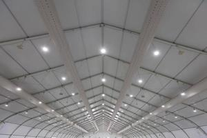 Details of a big metal roof photo