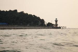 Lighthouse at the coast photo