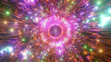 Luces de colores y formas en caleidoscopio ilustración 3d para fondo o papel tapiz foto