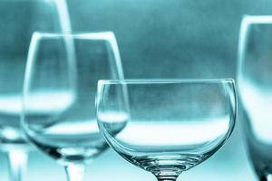 Empty wine glasses photo
