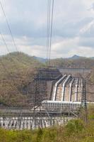 Electricity pylons and power plant in Thailand