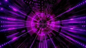Luces y formas azules y púrpuras en la ilustración 3d del caleidoscopio para el fondo o papel tapiz