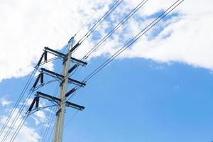 Power pole with wires photo