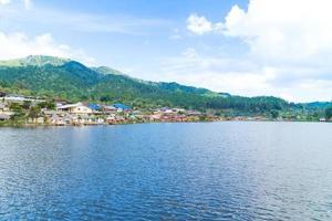 Village at the reservoir