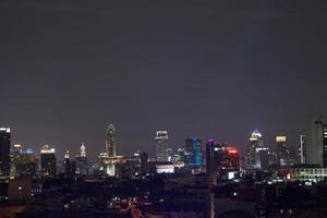 Buildings in the city of Bangkok at night