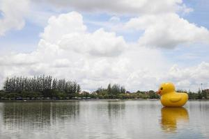 Large yellow rubber duck in Thailand