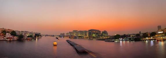 Chao Phraya river in Bangkok at sunset