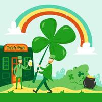 Big Clover for Saint Patrick's Day vector