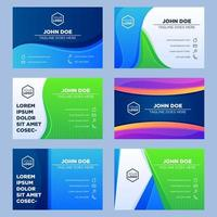 Business Name Card Collection vector