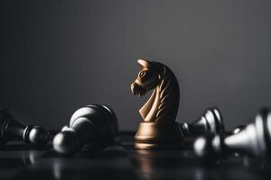 tiro de figuras de ajedrez foto