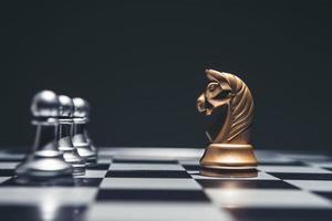 tiro de un tablero de ajedrez foto