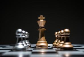 Chessboard game begins photo