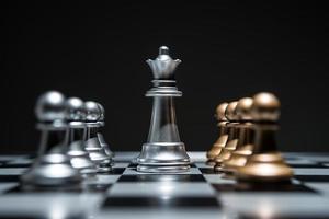 Chessboard game begins