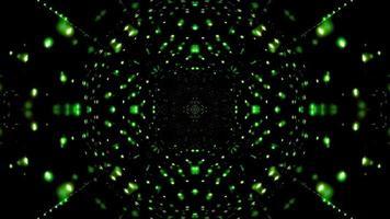 Ilustración 3d de luces verdes para fondo o papel tapiz