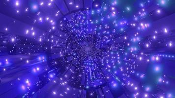 Ilustración 3d de luces azules y púrpuras para fondo o papel tapiz foto