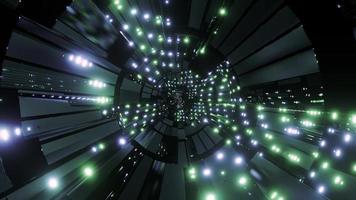 Fondo de pantalla de fondo de ilustración 3d de luces y formas verdes y azules
