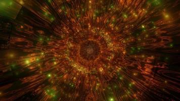 Ilustración 3d de caleidoscopio marrón y verde para fondo o papel tapiz foto