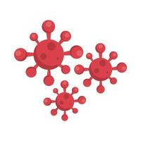Partículas pandémicas covid19 aisladas vector