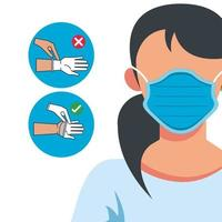 how to remove the gloves covid19 infographic vector