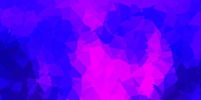 Dark purple, pink vector polygonal backdrop.