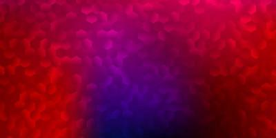 Dark blue, red vector pattern with hexagons.