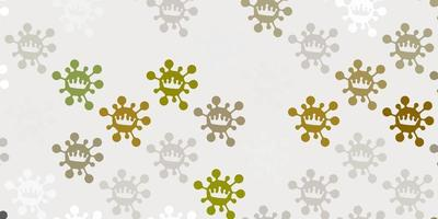 Light gray vector texture with disease symbols.