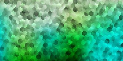 Light blue, yellow vector texture with colorful hexagons.