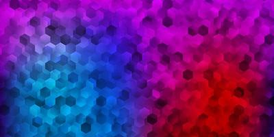 Light blue, red vector layout with shapes of hexagons.