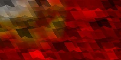 textura de vector rojo, amarillo claro con hexágonos de colores.