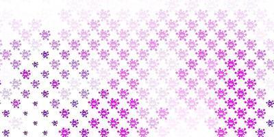Telón de fondo de vector rosa claro con símbolos de virus.