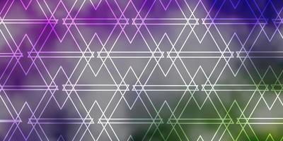 patrón de vector rosa claro, verde con estilo poligonal.