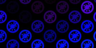 plantilla de vector de color rosa oscuro, azul con signos de gripe.
