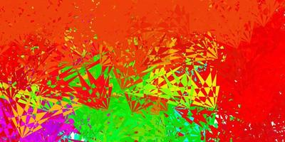 Fondo de vector multicolor oscuro con formas poligonales.