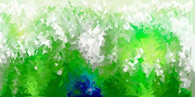 Plantilla de triángulo de poli vector verde oscuro.