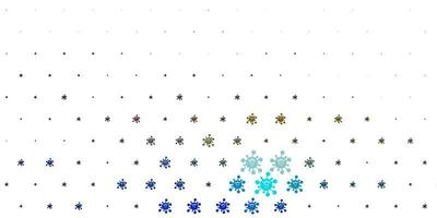 Light Multicolor vector pattern with coronavirus elements.