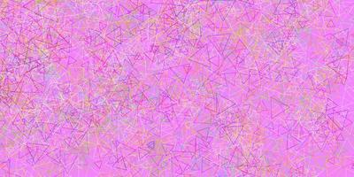 Light Multicolor vector pattern with polygonal shapes.