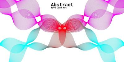 Modern abstract background with wavy lines in purple, red and blue gradations vector