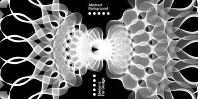 Fondo abstracto moderno con líneas onduladas blancas. vector