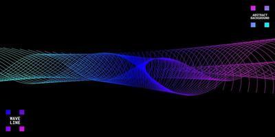 Fondo abstracto moderno con líneas onduladas de colores. vector