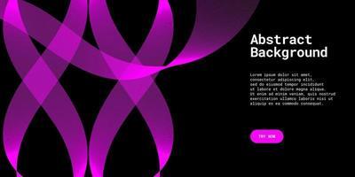 Fondo abstracto moderno con líneas onduladas en degradado púrpura. vector