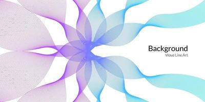 Modern abstract background with wavy lines in purple and blue gradations. vector